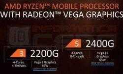 AMD готовит экономичные APU Ryzen 3 2200GE и Ryzen 5 2400GE