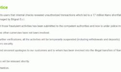Итальянская криптобиржа BitGrail заявила о пропаже криптовалюты на $170 млн