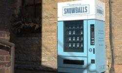 Рекламное агентство из США установило автомат со снежками для рекламы своего штата