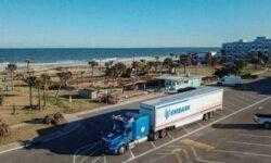 Самоходный грузовик Embark совершил поездку по дорогам США от побережья до побережья