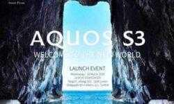 Анонс смартфона Sharp Aquos S3 с вырезом в стиле iPhone X состоится 28 марта