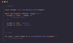 Асинхронные циклы в Node.js 10