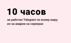 Цифры: сколько длился сбой Telegram