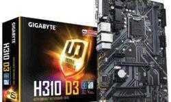 Gigabyte выпустила новые платы для Coffee Lake-S — H310 D3 и H310M S2P