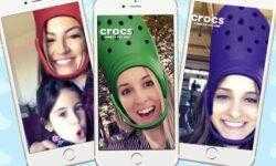Интеграция бренда Crocs со Snapchat: 4 млн пользователей «примерили» обувь на голову с помощью нового фильтра