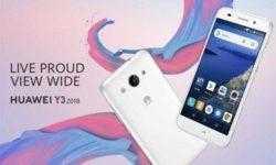 Дебют недорогого смартфона Huawei Y3 (2018) Android Go