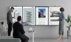 Microsoft представила гигантский дисплей для работы в офисе Surface Hub 2