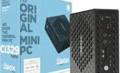 ZBOX CI329 nano: бесшумный мини-компьютер с процессором Intel Gemini Lake