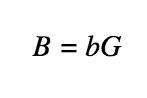 Формула: Наследование публичного ключа. B = bG