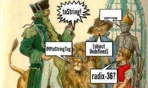 toString: Великий и Ужасный