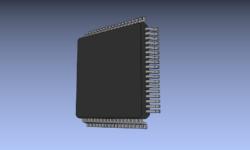 Blender: 3D-модель микросхемы для подключения в библиотеке KiCad
