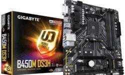 Gigabyte обнародовала характеристики матплаты B450M DS3H