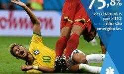Португальская «скорая» пошутила над привычкой Неймара симулировать боль на поле
