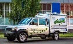 УАЗ показал прототип первого в России гибридного коммерческого автомобиля