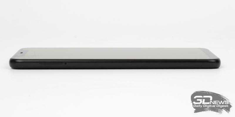 Xiaomi Mi 8, левая грань: слот для двух nano-SIM