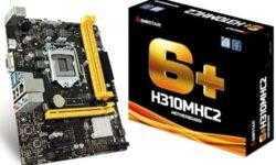 Плата Biostar H310MHC2 поддерживает процессоры Intel Coffee Lake