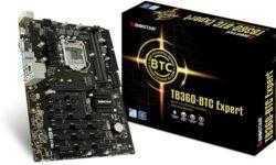 Плата Biostar TB360-BTC Expert для майнинговой системы насчитывает 17 слотов PCIe