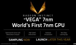 AMD: Поставки GPU Vega 7nm в этом году будут значимыми