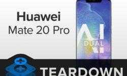 Вскрытие Huawei Mate 20 Pro: смартфон обладает посредственной ремонтопригодностью
