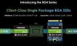 CES 2019: Ёмкость SSD-накопителей Toshiba BG4 формата M.2 2230 достигает 1 Тбайт