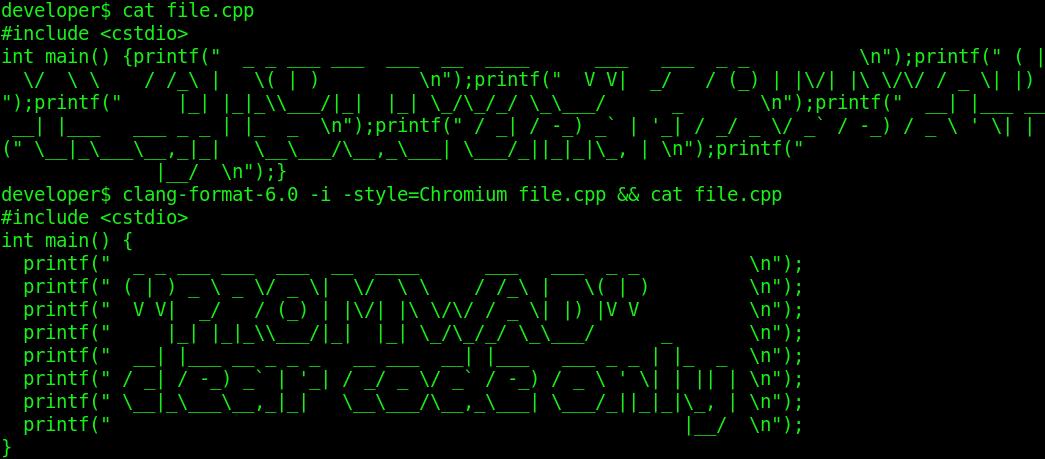 Фото Форматирование исходного кода в Linux средствами ClangFormat: проблемы и решение