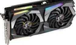 Изображения трёх моделей GeForce GTX 1660 Ti от компании MSI