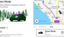 Сервис Lyft предлагает клиентам возможность заказа поездки на гибриде или электромобиле