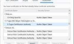 Firefox начал импортировать корневые сертификаты из Windows