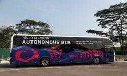 Volvo и NTU продемонстрировали полноразмерный автономный электроавтобус