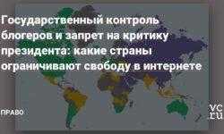 Государственный контроль блогеров и запрет на критику президента: какие страны ограничивают свободу в интернете