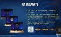 Intel представила мобильные процессоры Intel Core vPro 8-го поколения