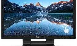 Монитор Philips 222B9T поддерживает сенсорное управление