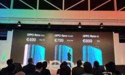 Смартфоны OPPO Reno с уникальной селфи-камерой дебютировали в Европе