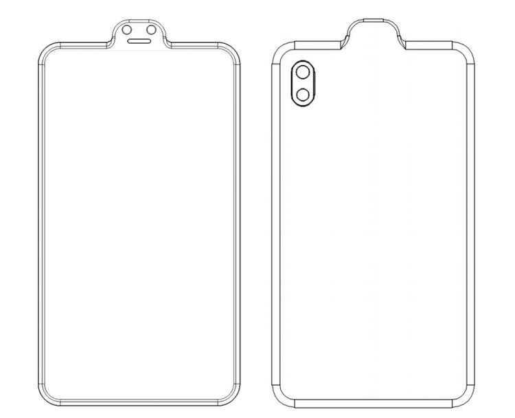 Фото Xiaomi придумала смартфон с «вырезом наоборот»
