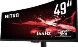 49 изогнутых дюймов: представлен игровой монитор Acer Nitro EI491CRP