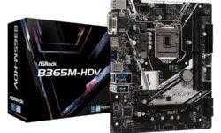 ASRock B365M-HDV: плата для компактного ПК на чипе Intel Core