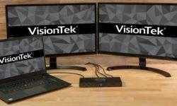 Док-станция VisionTek VT4500 допускает подключение двух 4К-мониторов