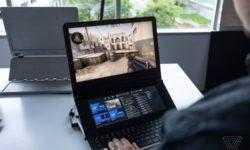 Intel показала необычный прототип двухэкранного игрового ноутбука
