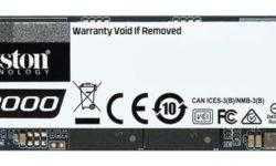 Kingston KC2000: быстрые накопители M.2 NVMe SSD ёмкостью до 2 Тбайт