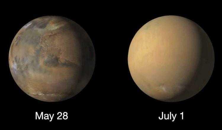 Фото Пылевые бури могли стать причиной исчезновения воды с Марса