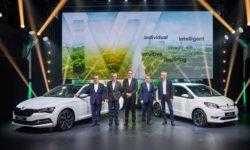 Škoda представила первые электрический и гибридный автомобили под новым брендом iV