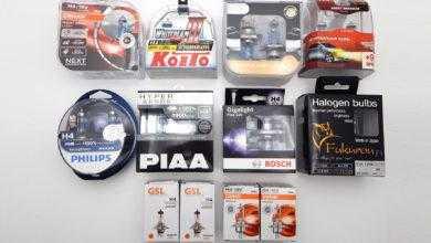Фото Сравнение 10 галогенных ламп H4 Philips, Osram, PIAA, Koito, Bosch. Результаты удивляют