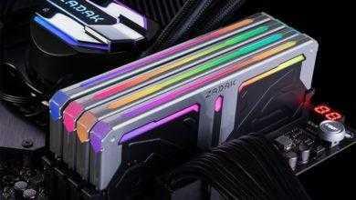 Фото Zadak Spark RGB DDR4: модули и комплекты ОЗУ с многозонной подсветкой