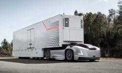 Автономные электрогрузовики без кабины Volvo Vera будут перевозить контейнеры по дорогам общего пользования