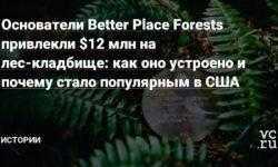 Основатели Better Place Forests привлекли $12 млн на лес-кладбище: как оно устроено и почему стало популярным в США
