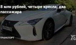 8 млн рублей, четыре кресла, два пассажира