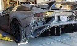 Американец у себя дома напечатал на 3D-принтере Lamborghini Aventador и на нем можно ездить