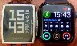 Apple Watch 4 (44 мм, 2019 г.) vs Pebble Steel Classic (2014 г.)