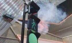 Российские «умные» светофоры смогут проецировать на воздух лазерную «стену»
