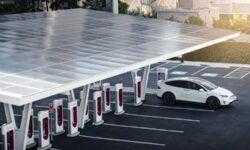 СтанцияTesla V3 Supercharger в Лас-Вегасе способна заряжать до 1500 электромобилей в сутки
